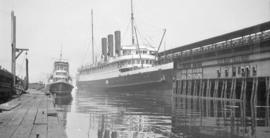 "[S.S. ""Prince George"" at dock]"