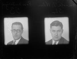 Ross McIntyre [left] and Harold D. Wilson [right]
