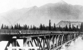 My up-country trip : Bridge over Fraser River at Hope