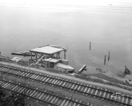 [Partially constructed pier for Robin Hood Mils at the foot of Nanaimo Street]