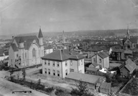 [Eastern view of] Vancouver, B.C. [from the tower of Holy Rosary Church at Dunsmuir and Richards ...