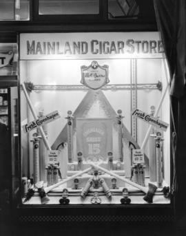 """Copenhagen"" Snuff window at Mainland Cigar Store [310 Carrall Street]"