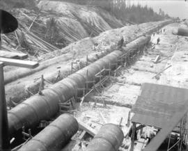 [Rebuilding of upper end of penstocks 1 to 4 for Buntzen Lake Power Plant number one]