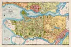Guide map. Vancouver-New Westminster. Burnaby and North Shore municipalities