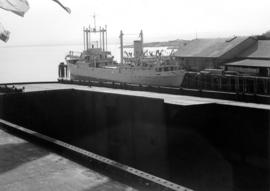[Ship in drydock at Esquimalt]