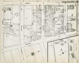 Plan of Vancouver, 1889 [fire map] : [Water Street to Abbott Street to Dupont Street to Carrall S...