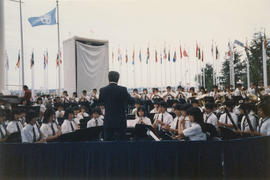 Orchestra performance for Yokohama Day at Expo Site