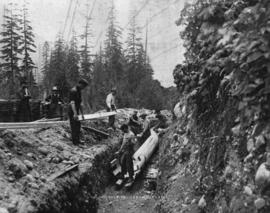 Building the pipe - Seymour Creek water system