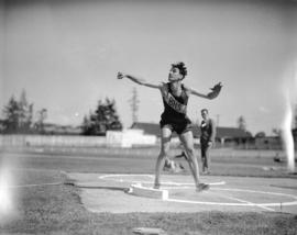 [B.H.S.] High School Sports event [shot-put]