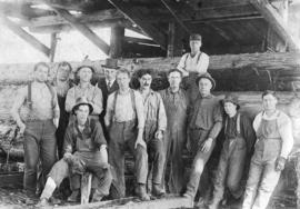 Mill and train crew [at] Gordon Pasha Lake - Brooks-Scanlon-O'Brien Company Limited