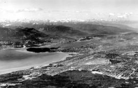 [Northeast aerial view of Burrard Inlet and Vancouver]