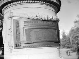 [The Japanese Monument showing the Honor Roll 1914-1918]