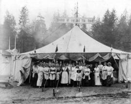 Church of England tea tent on Vancouver Exhibition grounds