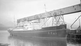"[M.S. ""Europa"" at dock]"