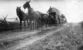 [Covered freight wagons on the Cariboo Road]
