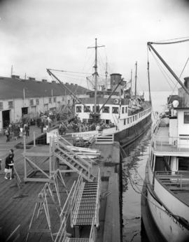 [The 'Lady Cynthia' and the 'Capilano' at dock]