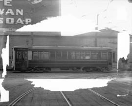 [Streetcar number 501, fitted with doors for front end entrance and one man operation]
