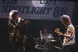 Band performing at Spotlight '86