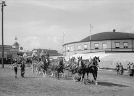 Canadian Pacific Exhibition [horse-drawn wagon cart]