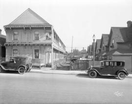 [Rowhouses at corner of Robson and Homer Streets]