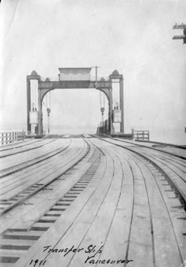 Transfer Slip Vancouver [Pier with tracks and gantry]