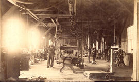 Interior Machine Shops of City Foundry [at the foot of Hawks Avenue]