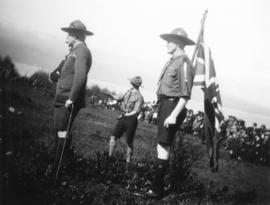 [Lord Baden-Powell at a Boy Scout rally at Hastings Park]