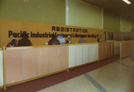 Pacific Industrial Equipment and Materials Handling Show registration counter
