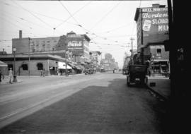 Taken for Duker and Shaw Billboards Ltd. [Granville Street looking north from Davie Street]