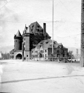 [A side view of the second C.P.R.Station at the foot of Gravnville Street]