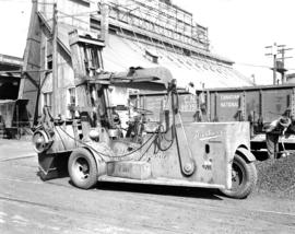 [Diethers Ltd. forklift at the sand, gravel and concrete plant on Granville Island]