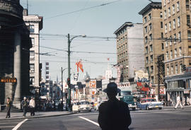 [View looking west on Hastings Street from Main Street]