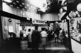 "Aki Restaurant in 1969 P.N.E. ""Fanfair to Japan"" exhibit area, Pacific Coliseum"