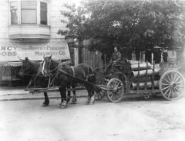 [City of Vancouver Stores Department horse drawn cart in Mount Pleasant]