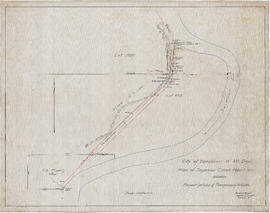 Plan of Seymour Creek pipe line between present intake & temporary intake