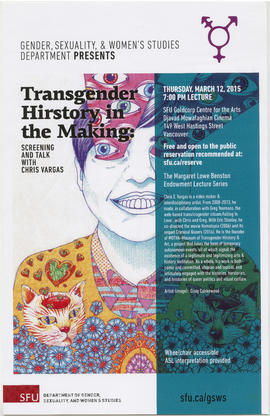 SFU Gender, Sexuality and Women's Studies department presents Transgender History in the Making :...