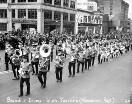 Band and drums - Irish Fusiliers (Vancouver Regiment)