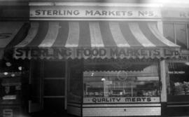 [Sterling Markets No. 5 on Robson Street near Bute Street]