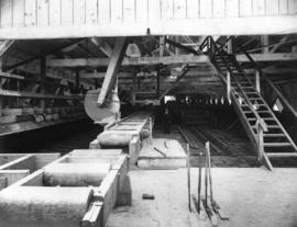 [Interior of rebuilt Hastings Sawmill]