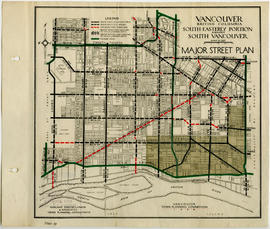 Vancouver, British Columbia, south-easterly portion, formerly South Vancouver : major street plan