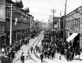 Cordova Street in its Prime July 1st 1904 Naval Parade