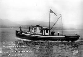 "[""Tasoo""] Designed and built by Ferrier and Lucas for the Canadian Fishing Co. Ltd."