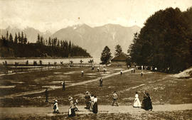 Park and visitors, Bowen Island, B.C.