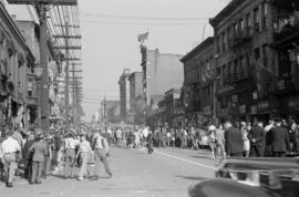 [VJ Day celebrations in Chinatown]