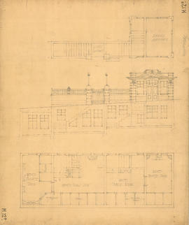Floor plan and elevation of toilets