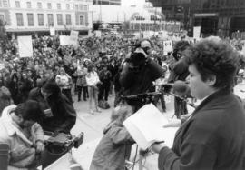 International Women's Day : Libby Davies [speaking at] Vancouver Art Gallery