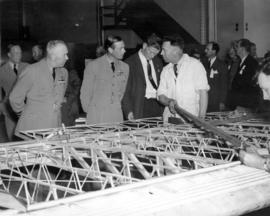 [The Duke of Kent touring an aircraft factory]