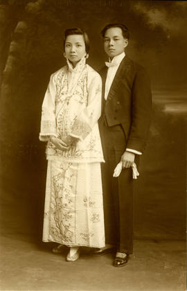 [Wedding portrait of Yip Kew Gin and Choi Tsui Wah]