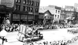 "[The War Veterans ""Better 'Ole"" float in the Dominion Day Parade]"