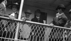 [Sir Wilfrid Laurier and R.P. Graham aboard a passenger ship]